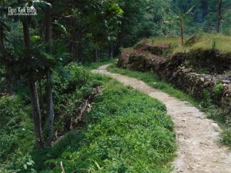 Jalan setapak menuju air terjun Kalibanteng